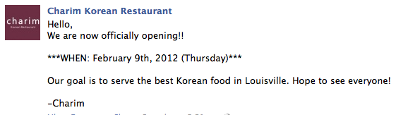 Charim Korean Restaurant Louisville