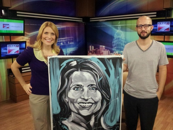Aaron Kizer Painting of Laura Kirtley