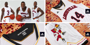 Louisville basketball retro uniforms vs Duke